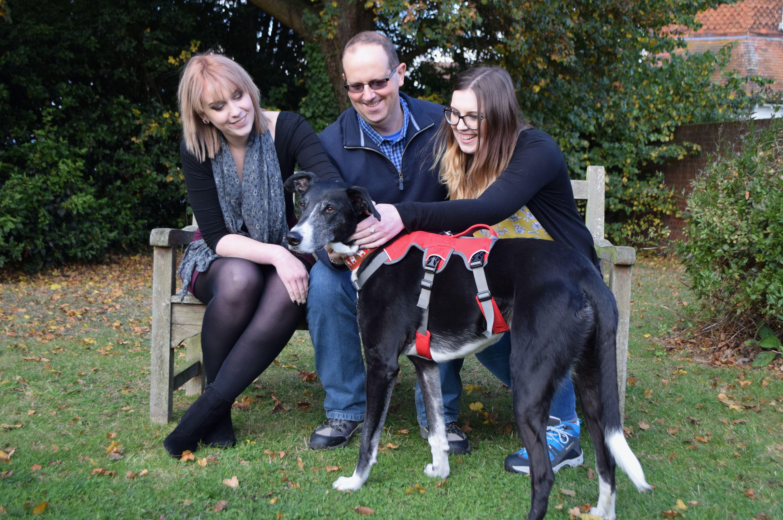 Bud with Eleanor Corns, Ian Corns and Abigail Corns