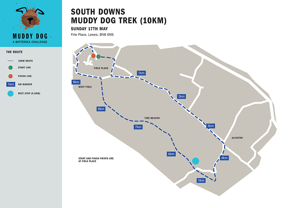 South Downs 10km Map