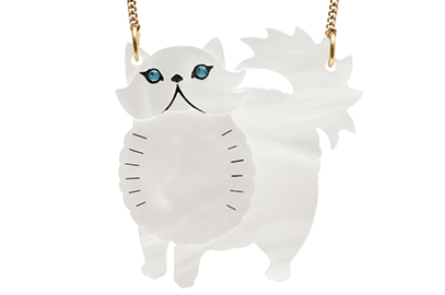 Tatty Devine Persian cat necklace