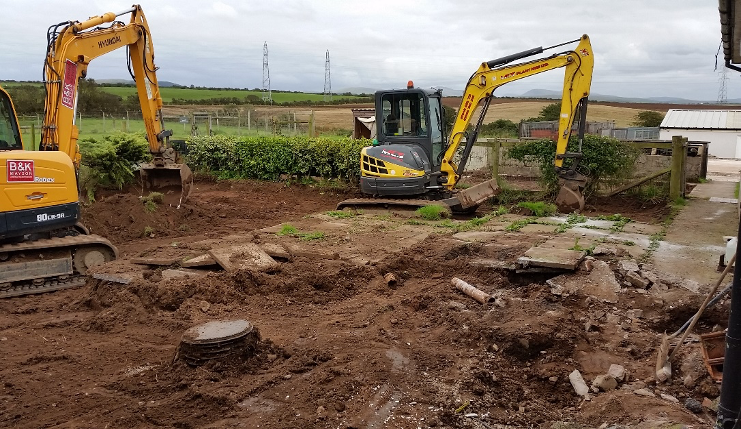 Breaking ground at the new site for cat facilities